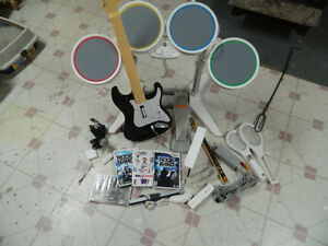 Console Nintendo Wii avec Rock Band