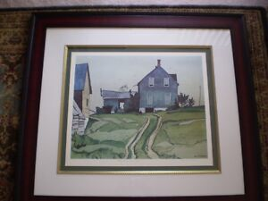 "A.J. Casson-""Farm House, Bancroft""-Limited Edition Print"