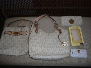 Michael Kors Vanilla Handbag, Crossbody, Wallet & Case HUGE