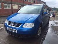Bargain vw Volkswagen touran SE tdi, 7 seater diesel full years MOT FSH