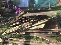 Old feather edge fencing free