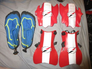 YOUTH WATER FLIPPER SET and WATER SHOES