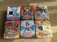 x6 Yu-Gi-Oh Tins , (EMPTY) £5 EACH