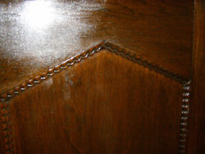 Antique Early Victorian Walnut Cupboard with Spindles & Inlays London Ontario image 4