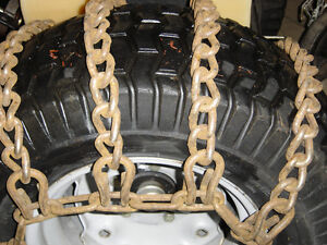 Chaines pour tracteur compact