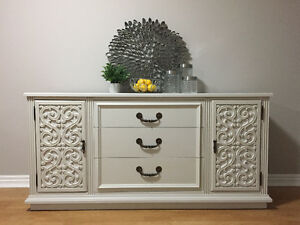 Grey Swirl Patterned Sideboard/Buffet