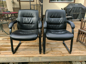 2 Leather Office Chairs