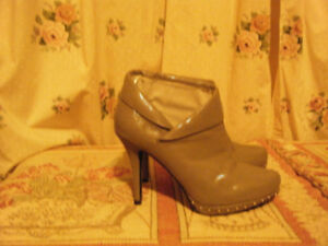 Charlotte Russe Grey Studded Ankle Boots