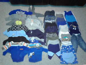 Baby boy clothes lot car seat and bath chair !