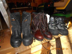 NEW MEN'S SIZE 7 SAFETY CSA STEEL TOE WORK BOOTS + SHOES $70