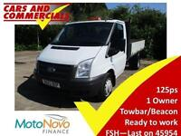 2013 63 FORD TRANSIT 350 MWB TRANSIT TIPPER 1-WAY 1-STOP 125PS DIESEL