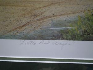 """Roger Witmer """" Little Red Wagon """" Limited Edition Print Kitchener / Waterloo Kitchener Area image 6"""