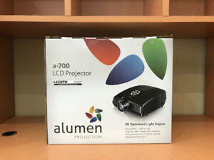 """Alumen Projection a-700 LCD Projector HDMI 1080P with screen 72"""""""