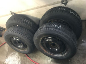 2010 Toyota Sienna Snow Tires and Steel Wheels
