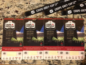 4 Grey Cup Tickets