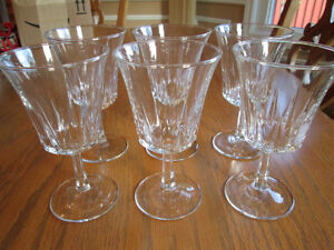 6 Crystal Glasses for $60