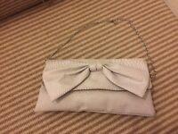 Grey bow bag