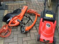 Flymo garden vac and strimmer