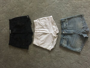 JEAN SHORTS AND SKIRT