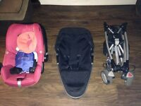 Car seat and pram including accessories