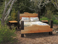 Hand crafted Timber beds made by Deep Forest furniture BC