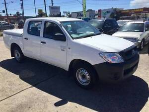 2009 Toyota Hilux WORKMATE DUAL CAB 2.7L WHITE 4D UTE PETROL Lansvale Liverpool Area Preview