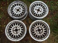 BMW E30 BBS 4x100 15x7 alloy wheels sport drift Volkswagen scene