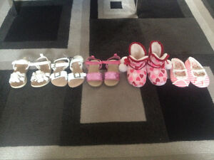 5 pairs of boots sandals slippers sizes 5-6