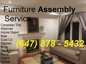 Furniture Assembly-Curtain install-TV Mount- (647)878-5432