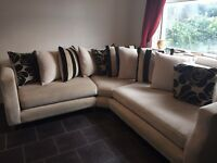 8ft by 8ft cream corner sofa (excellent condition, nearly as new...)