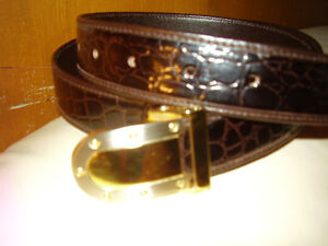 Raphael Crocodile Leather Belt Made in Italy New Rare