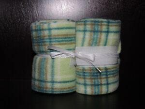 Custom Mint Plaid Horse Polo Wraps