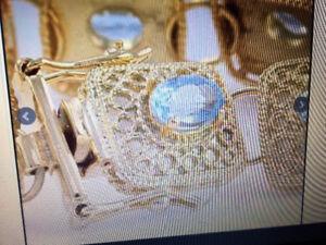 18K YELLOW GOLD 7.16 CTW AMETHYST BRACELET. SPECIAL PRICE