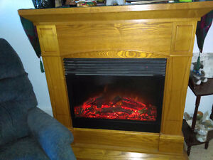 Oak fire place