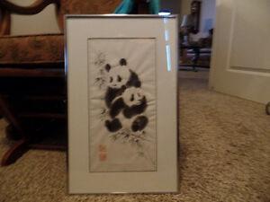 PETER KARSTEN Framed PANDA Picture ~ Chinese Water Color ~ ($25)