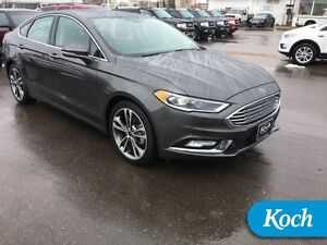 2017 Ford Fusion Titanium  Only 11000km, Moonroof, Park Assist,