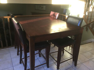 Large kitchen table with 6 chairs