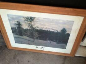 Plain wooden frame