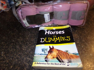 Horse Pink Fleece Polos, new, plus book Horses for Dummies