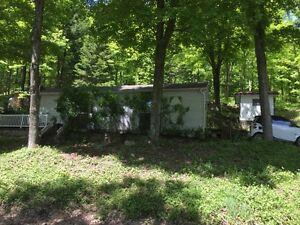 Maison Mobile(chalet) 4 Saisons-Laurentides- avec accès lac