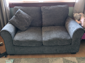 2 seater and 1 seater grey suite