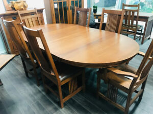 Mission pedestal table