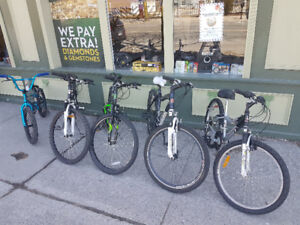 LARGE SELECTION OF BIKES!