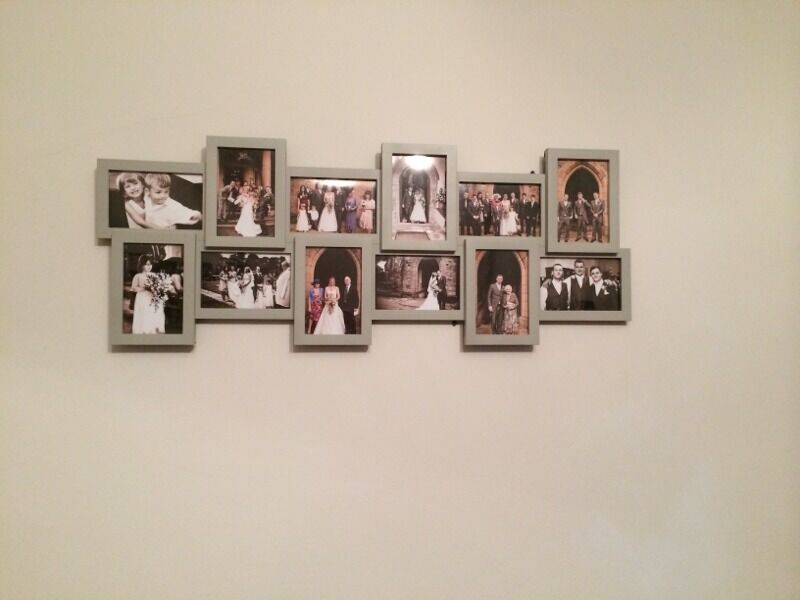 TWO Next grey multi aperture picture frame to fit 12 6x4 pictures ...