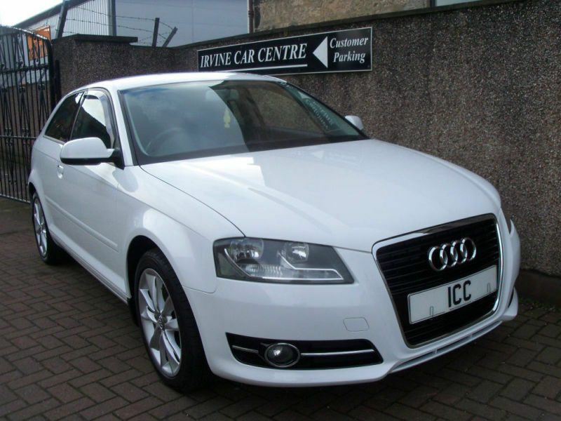 """10 60 AUDI A3 2.0 TDI SPORT 170 3DR TURBO DIESEL WHITE 17"""" ALLOYS CLIMATE 6SPEED"""