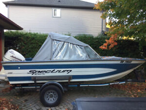 17' Aluminum Boat w. 115HP Johnson Outboard - Excellent Shape