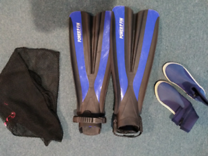 Diving fins and boots