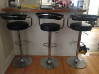 MOVING SALE- 3 MATCHING BAR STOOLS