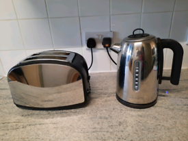 Morphy Richards  Red Kettle 2 Slice Toaster /& Ambiano Coffee Machine Nespresso