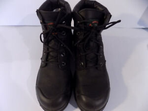 Terra Black Steel Toe Work Boots Mens Size 8 1/2